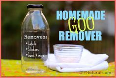 Adhesive Remover - Homemade Goo Gone – This adhesive remover recipe is a natural homemade goo gone that delivers the same results without all the harsh chemical additives. Use with confidence.