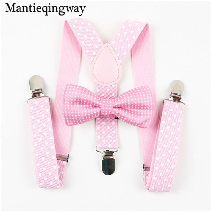 >> Click to Buy << Mantieqingway Newest Adjustable Boys Girls Kid 3 Clip-on Y-back Elastic Suspenders Set Children Kids Braces Suspenders Bow Ties #Affiliate