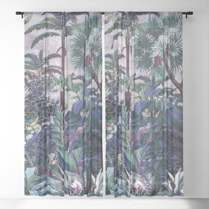 Magical Forest Sheer Curtain By Burcu Korkmazyurek 50 X 84