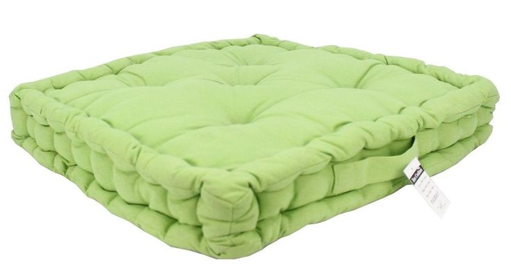 Set of 1-Green Box Cushion Seat Pads Chunky Universal Chair Booster  30% off RRP