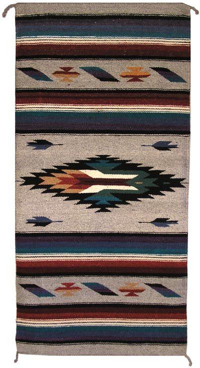 Mexican Rugs Zt1017 Mexican Zapotec Navajo Rug Replica