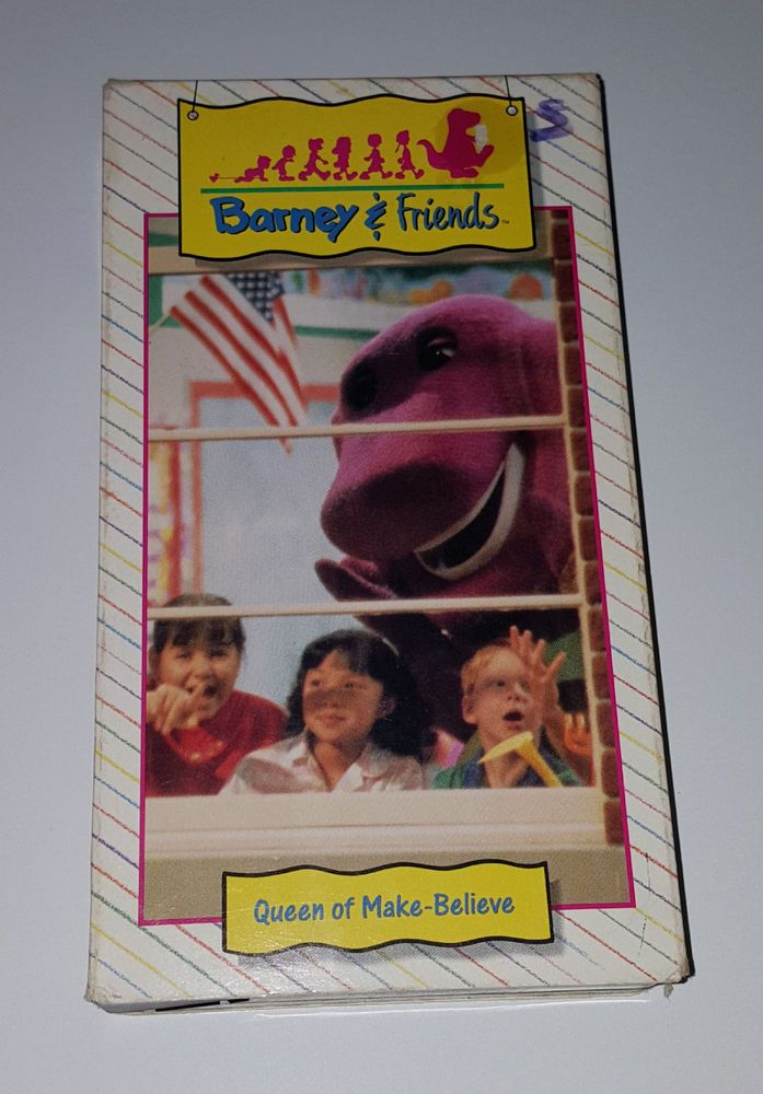 6c8f9d3a8f22b7 Time Life Barney   Friends Queen of Make Believe VHS VTG OOP