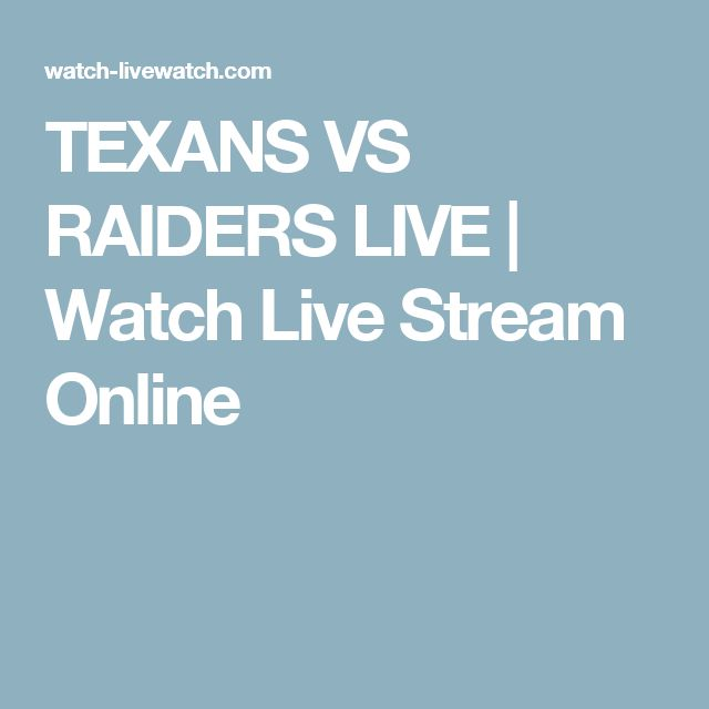 TEXANS VS RAIDERS LIVE | Watch Live Stream Online