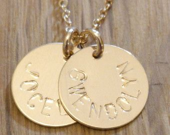 Gold Initial Charm Necklaces  Layered Personalized Custom 2