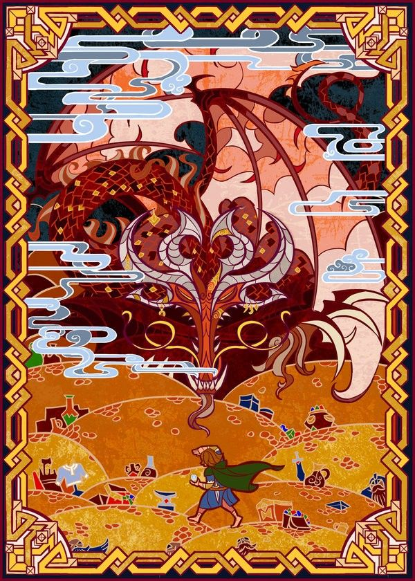 Nest of Smaug. This is beautiful. By Jian Guo.