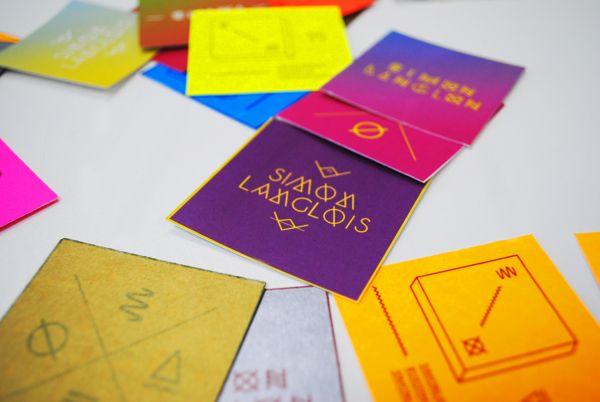 Business cards — simonlanglois.ca by Simon Langlois, via Behance