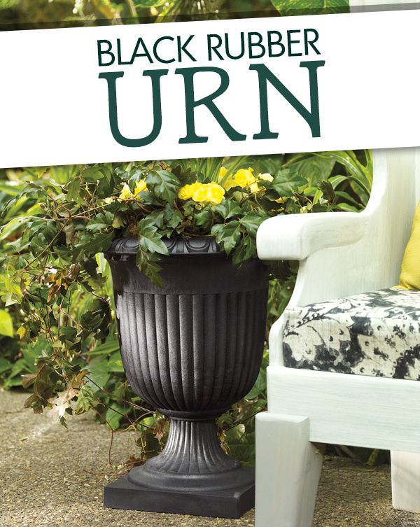 No need to water your plants in this self-watering urn!