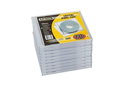 Fellowes Jewel Case Cd Wallet Pack of 10 Transparent Each case holds a single CD Replacement jewel cases protect valuable software and audio CDs Assortment of colours provide quick and simple identification and organisation (Barcode EAN = 0082014024852) http://www.comparestoreprices.co.uk/december-2016-6/fellowes-jewel-case-cd-wallet-pack-of-10 transparent.asp