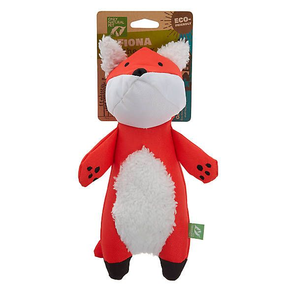 Only Natural Pet Fiona The Fox Dog Toy Plush Squeaker Dog