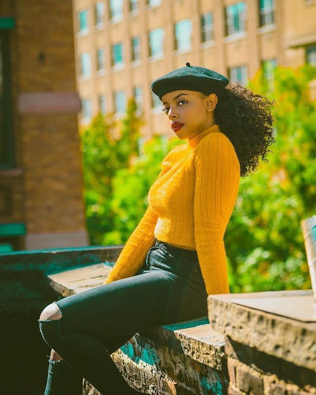Pin By زوليما On O U T F I T S Outfits With Hats Beret Outfit Black Girl Fashion