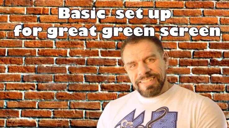 Green screen basic set up tips & tricks - YouTube