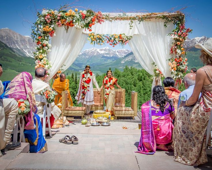 under the mandap | rocky mountain indian wedding colorado | the big fat indian wedding - real wedding inspiration