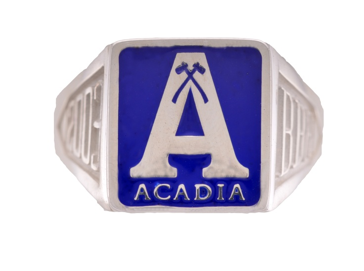 Classic A, large crest size, blue background
