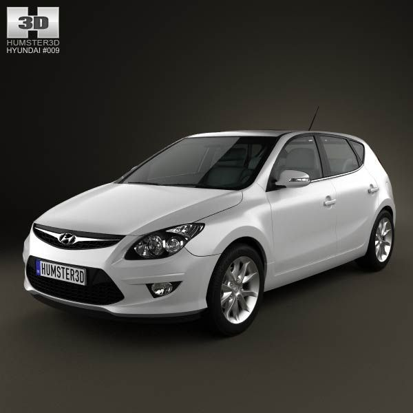 Hyundai i30 2011 3d model from humster3d.com. Price: $75