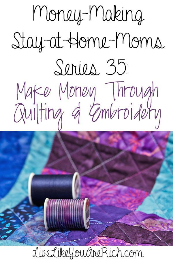 FAQ's with a SAHM who makes money through quilting and embroidery. #LiveLikeYouAreRich