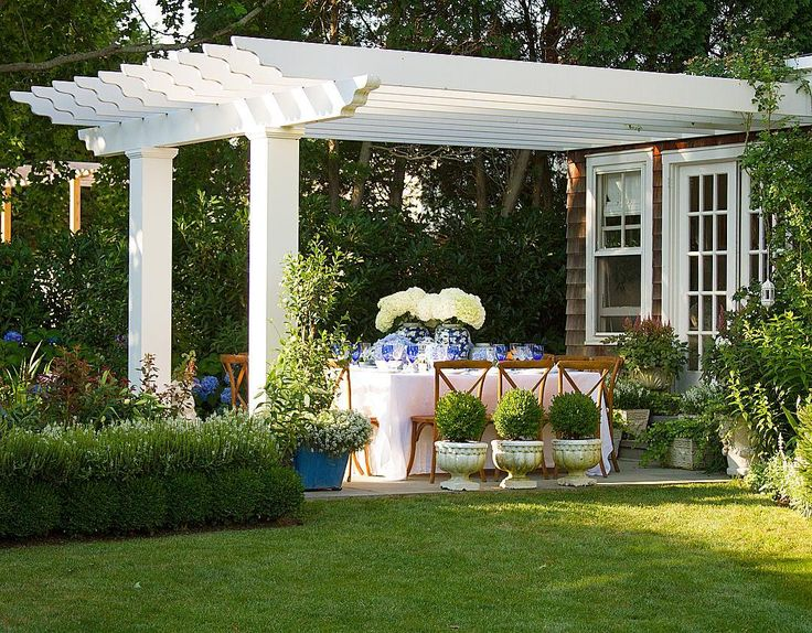 "Kelli Delaney on Instagram: ""Daydreaming of dinner parties under my pergola... Can't wait to see my roses & boxwoods return  #MapleShade my #Hamptons #home"""