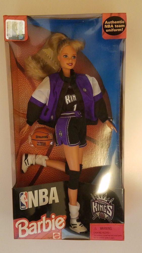 SACRAMENTO KINGS NBA BASKETBALL MATTEL BARBIE DOLL WITH AUTHENTIC UNIFORM (NEW) #Mattel