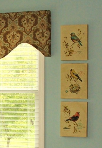 Bird prints....a breath of gentility and calm ~ living room or foyer or anywhere.