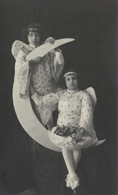 Angels on a papermoon by Vintage Photos & Collectables, via Flickr