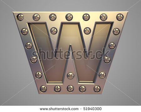 Metal font screw rivet - stock photo | METAL & Grace ...