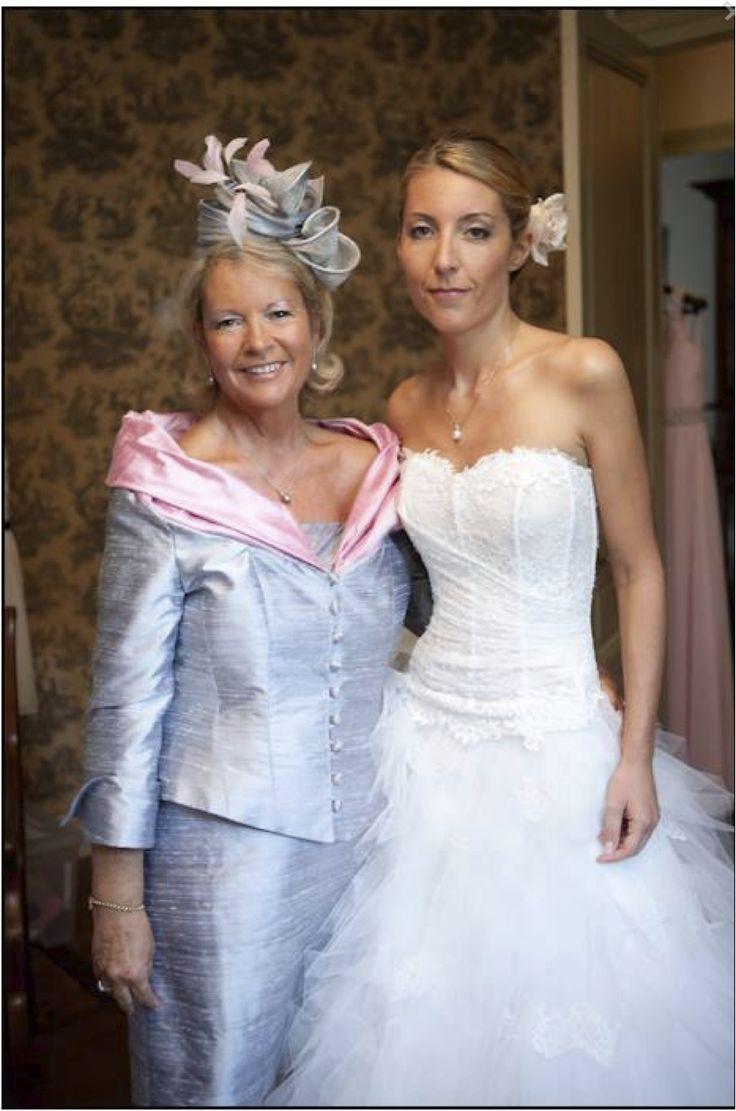 Tailleur en soie bicolore VOX  PAULE VASSEUR tenues de mariage et de ...