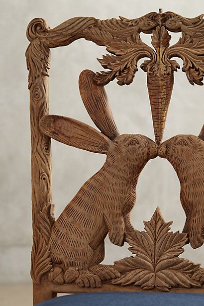 Anthro Handcarved Menagerie Dining Chair