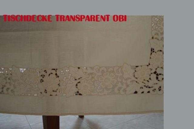 tischdecke transparent obi