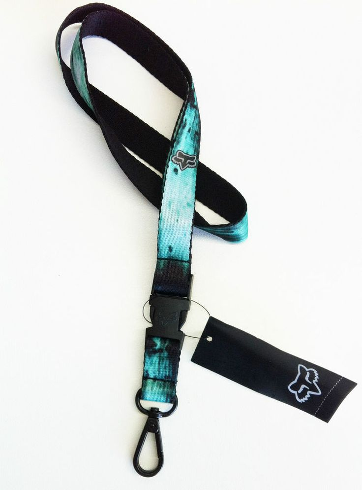 Fox Racing Decay Lanyard. Sea Foam. Great for Car or Work Keys.