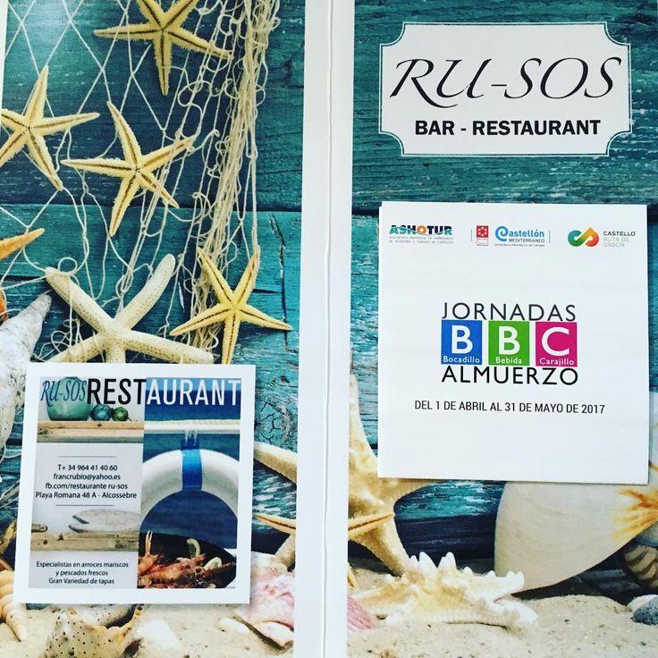 Jornadas almuerzo BBC #restauranterusos #alcossebre #almuerzo #playa romana