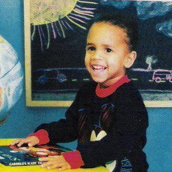 Chris Brown as a toddler
