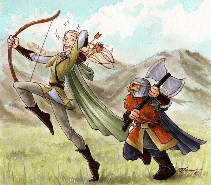gimli and legolas relationship with god