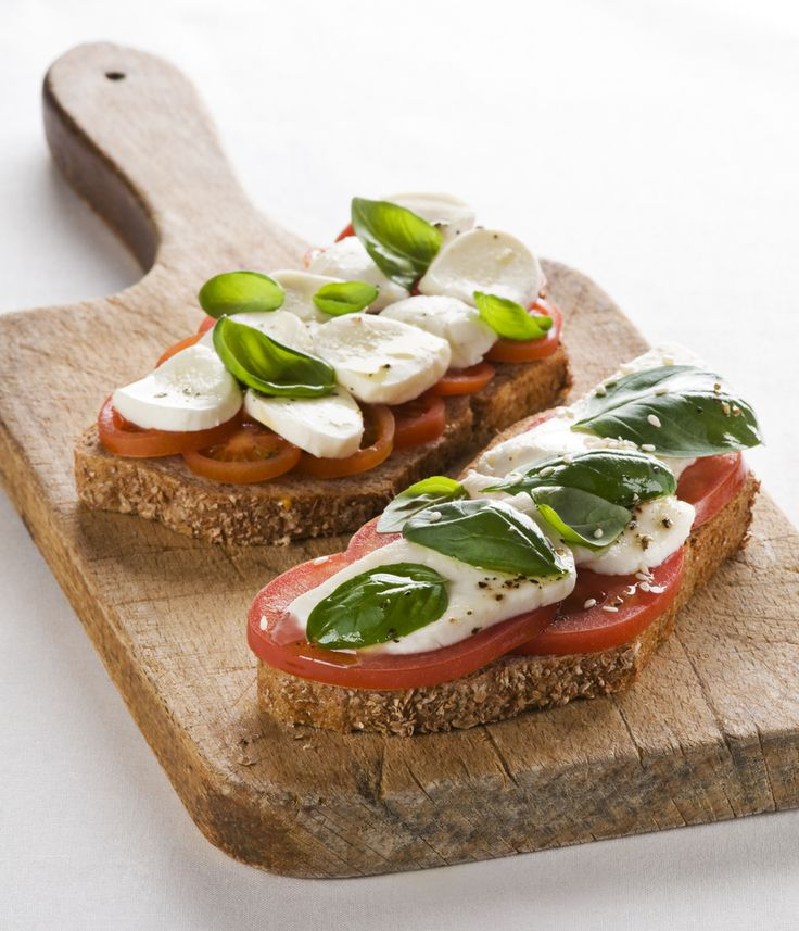Open Face Mozzarella Sandwich with Basil Aioli