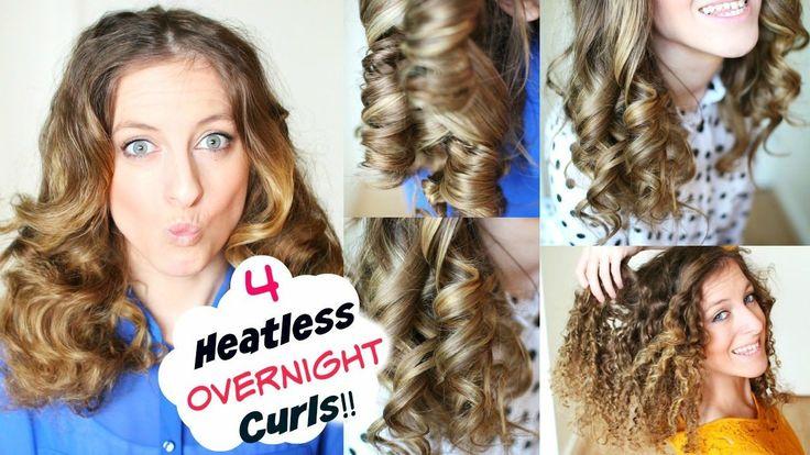 4 Overnight Heatless Curl methods by Braidsandstyles12 Youtube :https://www.youtube.com/watch?v=O7zx25LCfBw