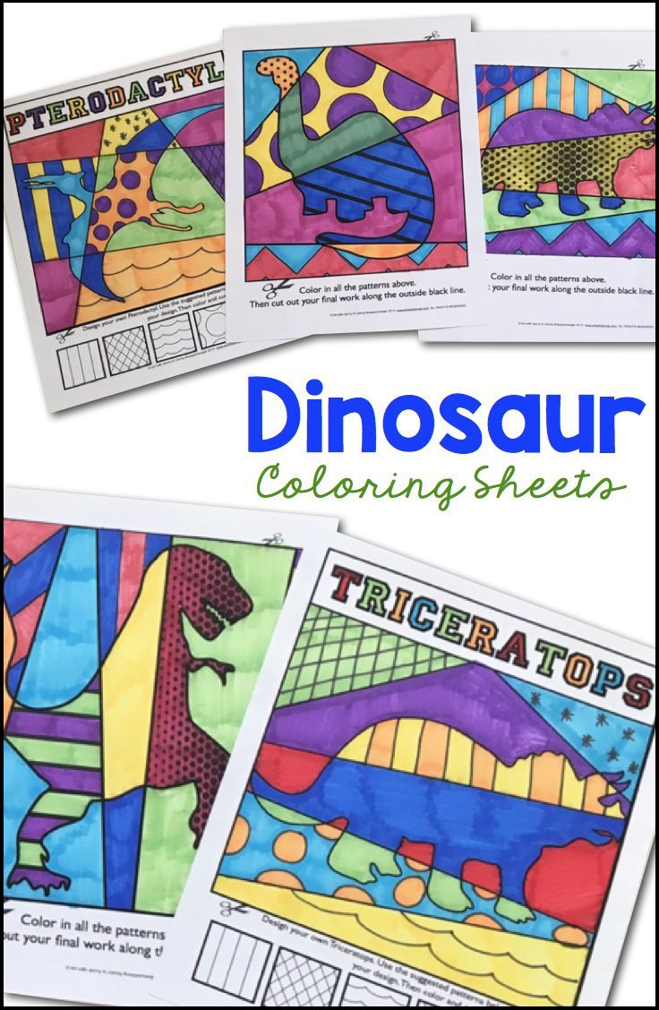 Interactive dinosaur coloring pages - Dinosaur Interactive Coloring Sheets