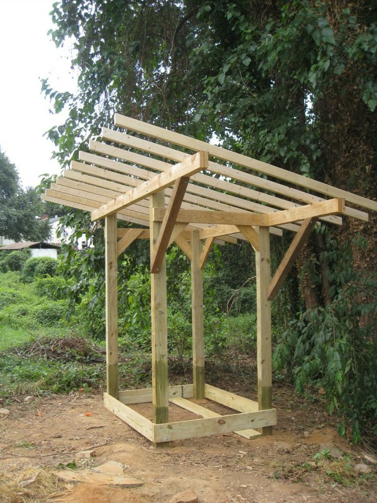 Shed Roof Framing Outdoor Kitchen Pinterest
