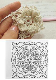 lo spazio di lilla: Fiori all'uncinetto, schemi gratuiti /Free crochet flowers patterns