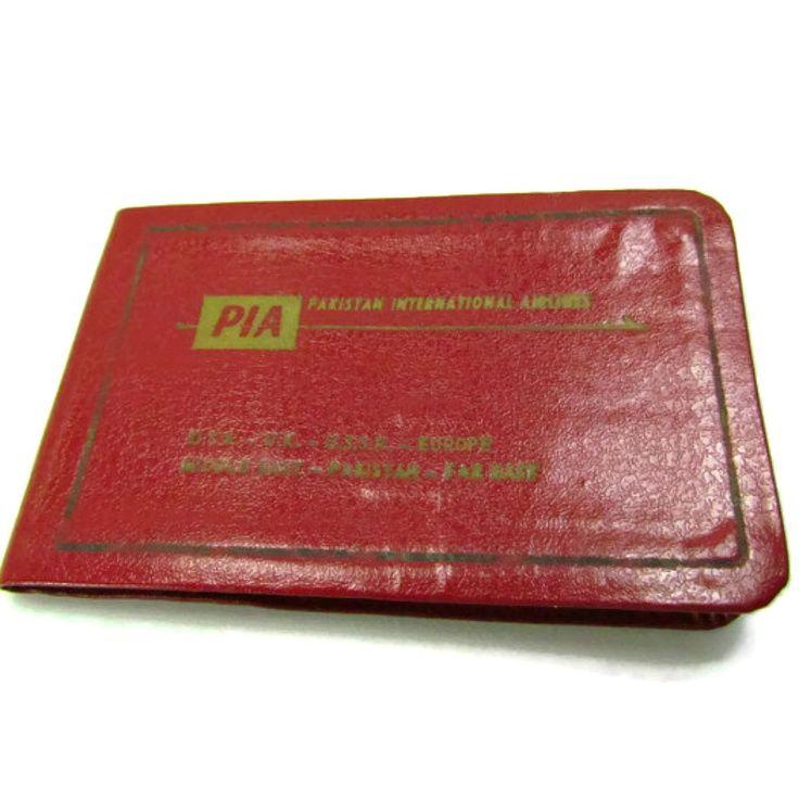Vintage Pakistan International Airlines Souvenir Giveaway Address Book