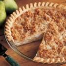 Cheddar Pear Pie - I used to make this all the time, and enjoyed telling people what it was.  It is easy and yummy.  Julie B.
