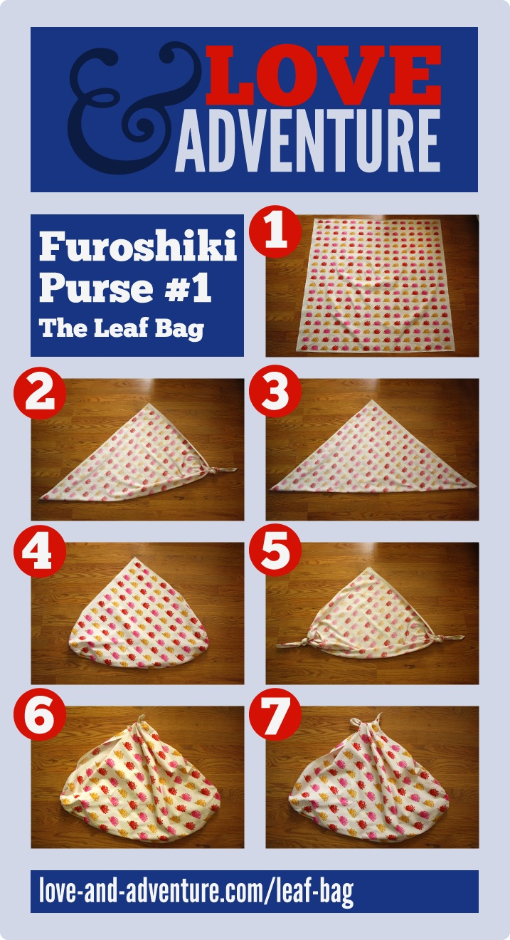 Furoshiki Leaf Bag Tutorial from love-and-adventure.com