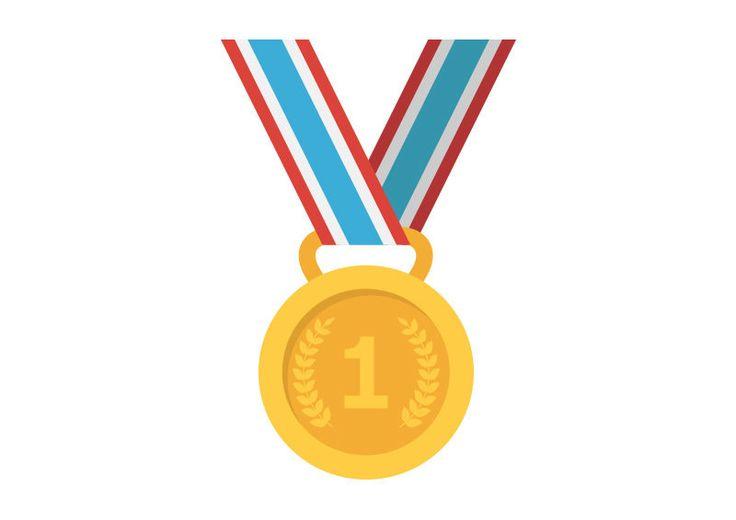 Gold Medal Flat Vector