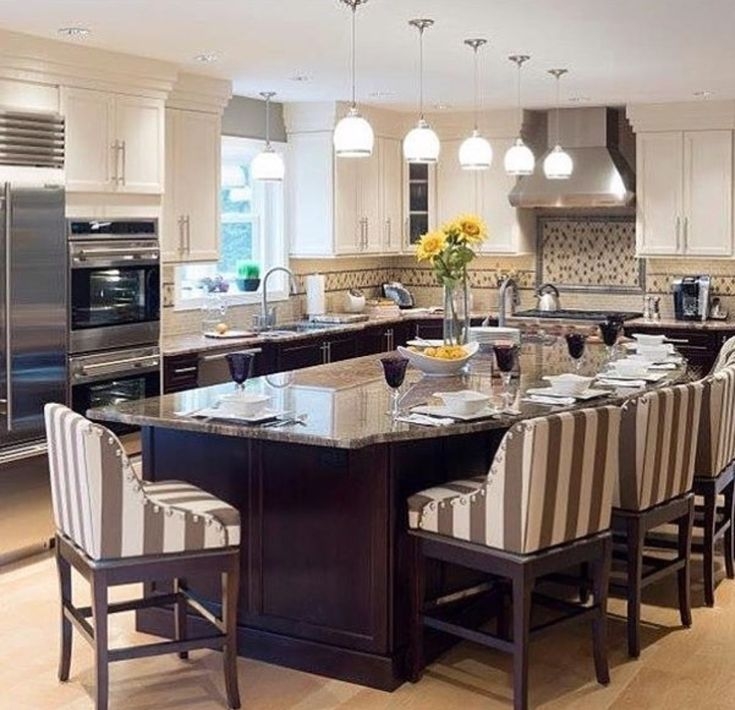 L Shaped Kitchen Island With Seating: 24 Best Kitchen Island Ideas Images On Pinterest