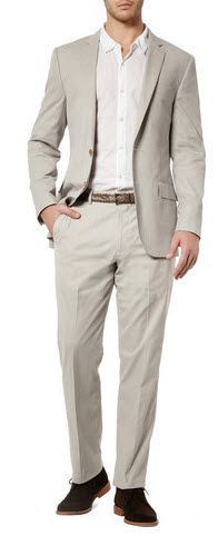 Grey suit for the groom