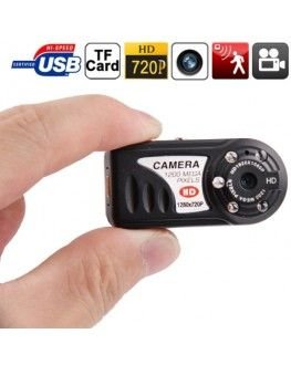 Q5 720P Mini Thumb DV Camcorder Sport Camera with Night Vision & TF Card Slot & 5 LED, Built in Microphone(Black)