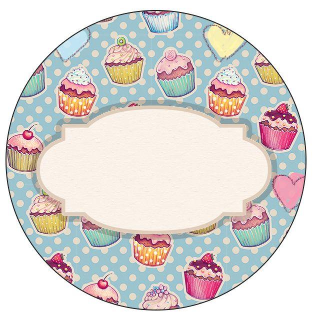 Rótulo Latinhas, Tubetes e Toppers Cupcakes: