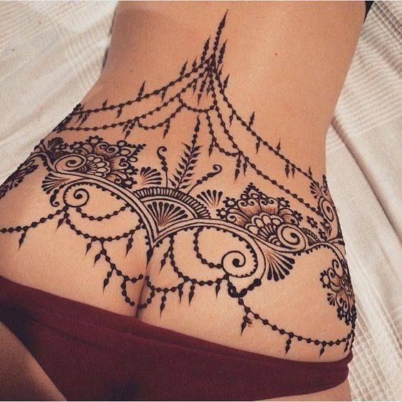 Henna Under Chest Tattoo Makedes Com