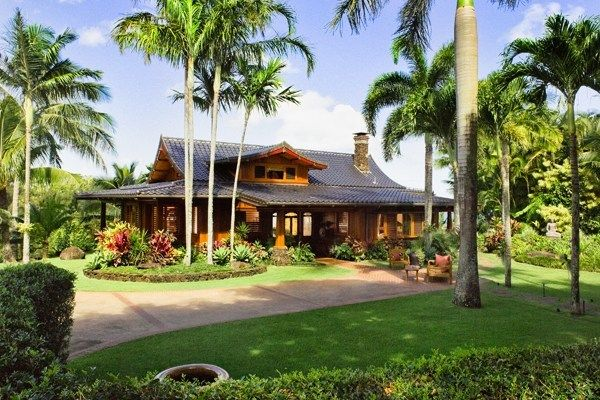 hawaii home with oriental flair. A mixed cultural design