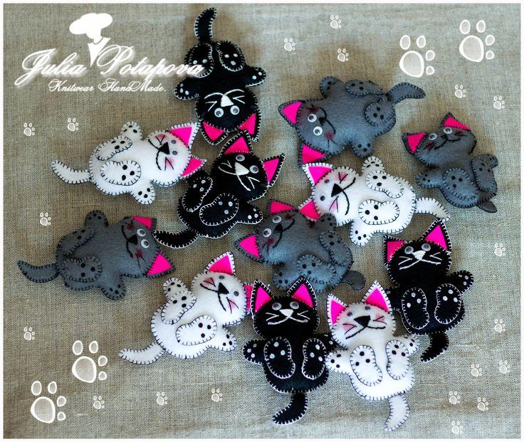 Kitties Fridge Magnets HandMade