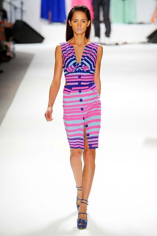 """Bold colors and stripes.  """"Neon"""" colors (80's anyone??) are everywhere from the runways to J. Crew"""