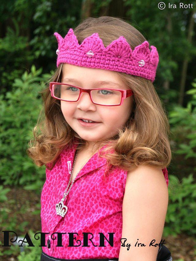 Free Princess Crown Tiara Crochet PDF Pattern