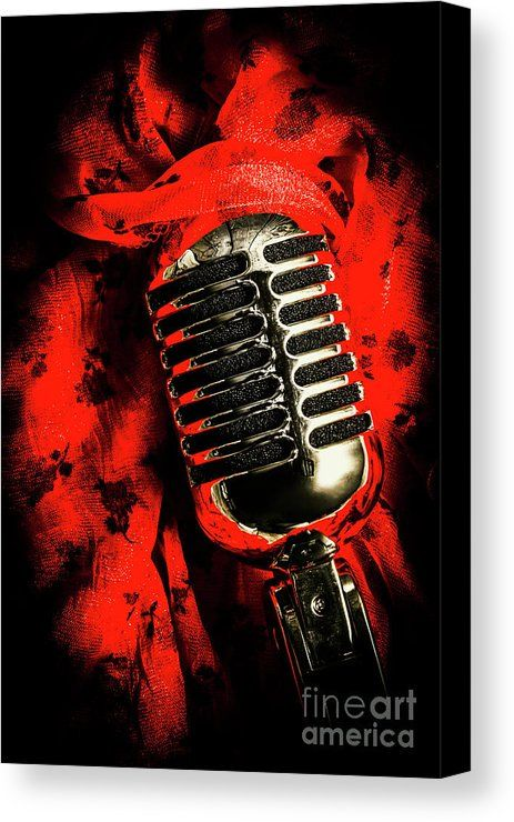Red Canvas Print featuring the photograph Classic Evening Cabaret by Jorgo Photography - Wall Art Gallery